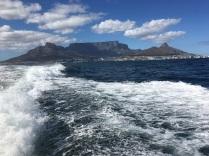 Speeding off towards Robben Island